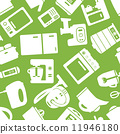 seamless pattern with electronic appliances 11946180