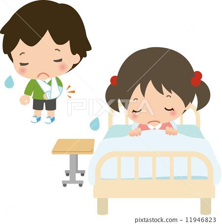 어린이의 부상이나 입원 11946823