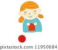 针织 女孩 少女 11950684
