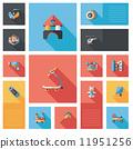 kid toys flat ui background,eps10 11951256