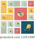 kid toys flat ui background,eps10 11951996