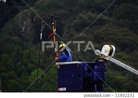 高空作业平台 电源线 蓝领工人 11952231