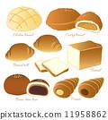 蜜瓜包 矢量 食物 11958862