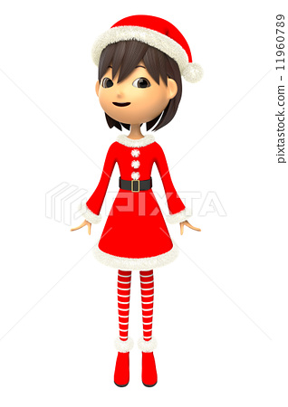 A woman in Christmas costumes 11960789