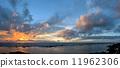 tropical sunset beach 11962306
