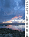 tropical sunset beach 11962647