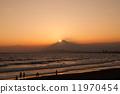鑽石富士 日落 夕陽 11970454