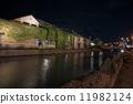 小樽运河在晚上 11982124