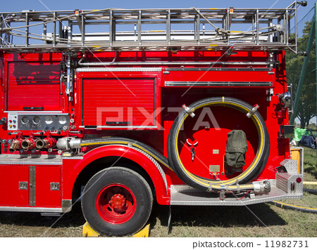 Stock Photo: fire-engine, fire truck, firetruck