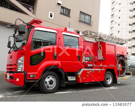 Stock Photo: firetruck, fire-engine, tokyo