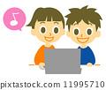 laptop, using, pc 11995710