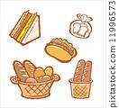 baguette, sweet, roll 11996573