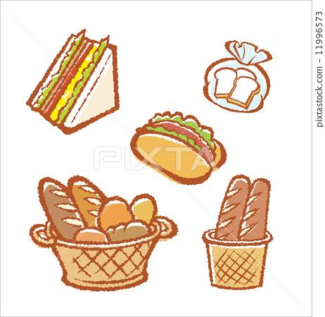 baguette, sweet roll, sandwich 11996573