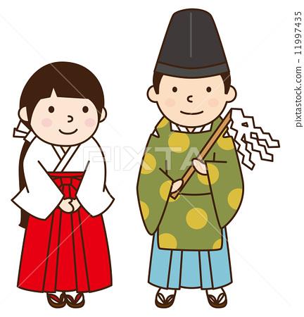 Shinto priestess 11997435