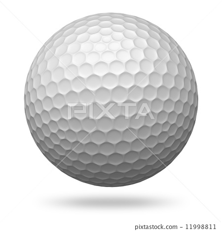 Golf ball isolated on white 11998811
