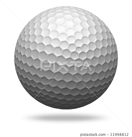 Golf ball isolated on white 11998812