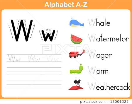 Alphabet Tracing Worksheet: Writing A-Z 12001325