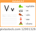 Alphabet Tracing Worksheet: Writing A-Z 12001326