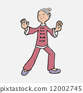 Old lady thi chi exercise 12002745