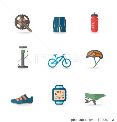 Bike Icons Flat 12006118