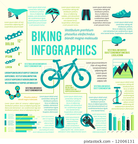 Bike icons infographic 12006131