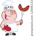 烤的 燒烤 豬 12006132