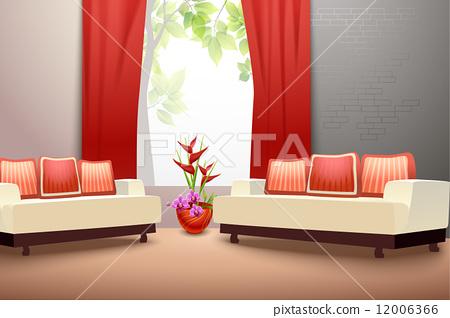 Interior design living room 12006366
