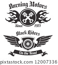 biker, wings, tattoo 12007336