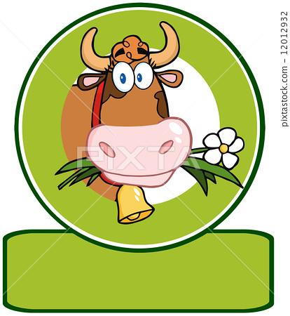 Dairy Cow Cartoon Logo Mascot 12012932