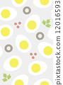 Seamless pattern boiled egg apatizer 12016593