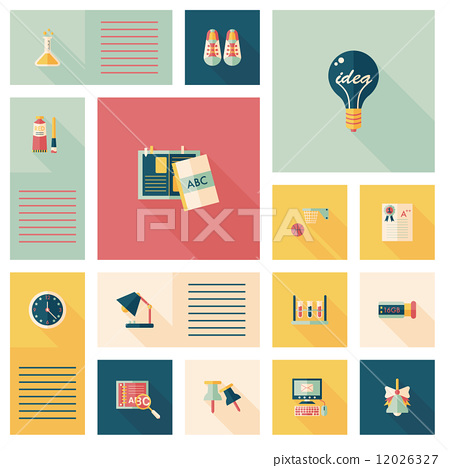 back to school flat ui background,eps10 12026327