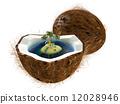 tree, coconut, 3d 12028946
