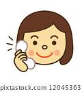 一个笑脸的家庭主妇打电话 12045363