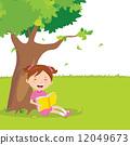 Girl outdoor reading 12049673