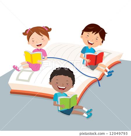 Children reading books 12049793