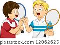 Tennis Players High Five 12062625