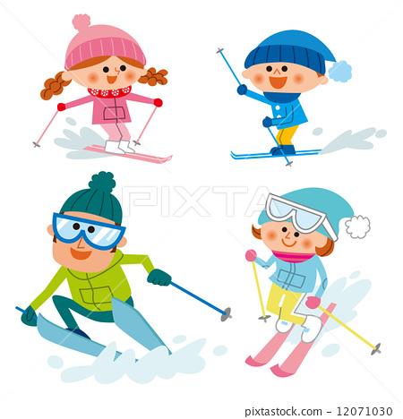 Stock Illustration: skiing, winter sports, winter sport