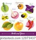 garlic, herb, spice 12073437