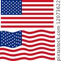美国 旗帜 旗 12073622