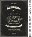 burger vector retro 12073646