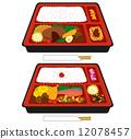 米 便當 午餐盒 12078457