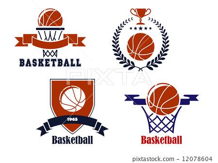 Basketball team emblems or symbols 12078604