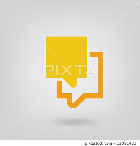 speech bubble icon. 12081423