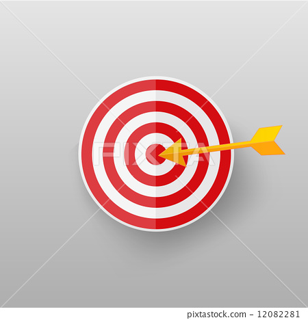 Target icon on gray background. 12082281