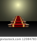 Vector abstract illustration of red carpet on the staircase 12084783