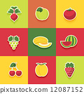Food icons set 12087152