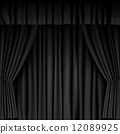 curtain, vector, stage 12089925