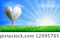 Heart shaped golf ball 12095765