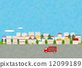背景材料 - 都市風景,傳訊者圖像,藍天 12099189