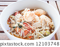 Spicy stir fry bean sprout in a bowl 12103748